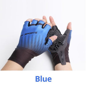 1Pair Half /Full Finger Cycling Gloves With 1Pair Cycling Socks Bikewest.com Half Gloves Blue M