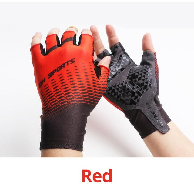 1Pair Half /Full Finger Cycling Gloves With 1Pair Cycling Socks Bikewest.com Half Gloves Red XL