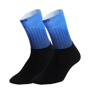 1Pair Half /Full Finger Cycling Gloves With 1Pair Cycling Socks Bikewest.com Only Socks Blue M
