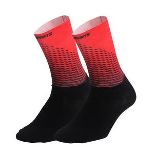1Pair Half /Full Finger Cycling Gloves With 1Pair Cycling Socks Bikewest.com Only Socks Red L