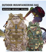 Load image into Gallery viewer, 40L Camping Backpack Military Bag Men Travel Bags Bikewest.com