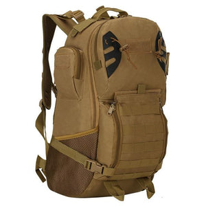 45L Outdoor Military Backpack Tactical Rucksack Camping Hiking Travel Sports Bag Bikewest.com Brown 50 - 70L