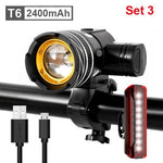Load image into Gallery viewer, 5000mAh Bicycle Light 800 Lumen Bikewest.com 2400mAh Set 3 Spain