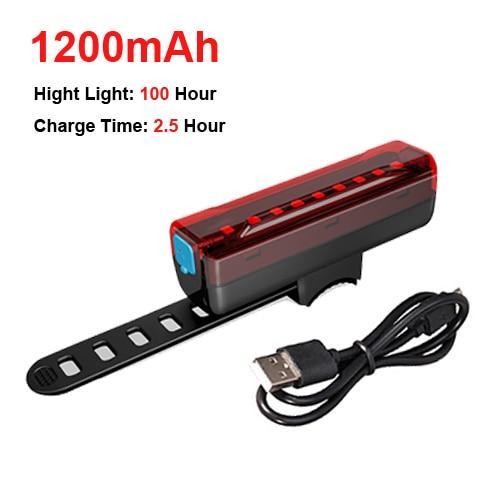 5000mAh Bicycle Light 800 Lumen Bikewest.com only tail light China