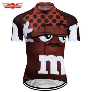 7 colors Summer Cycling Jerseys Funny Cycling Clothing Mtb Shirt Bicycle top Shirt Short Maillot Ropa Ciclismo Bike Wear Clothes Bikewest.com Brown XXS
