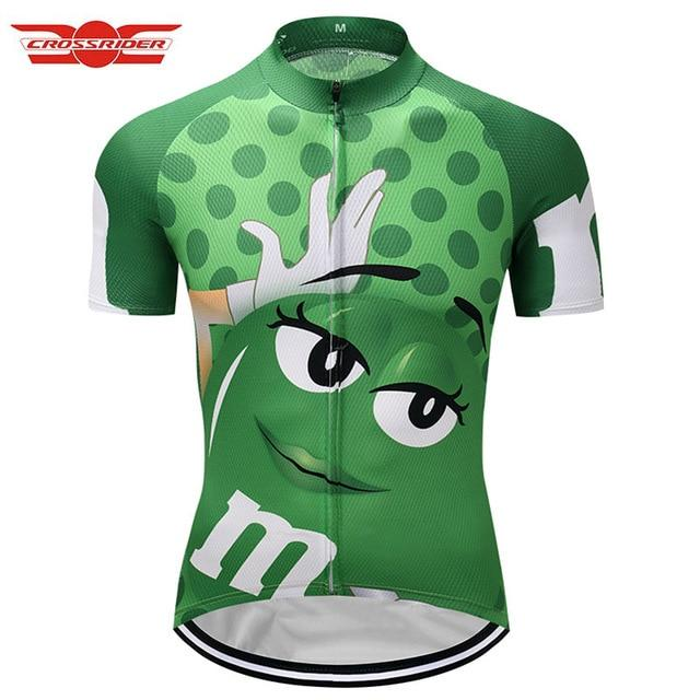 7 colors Summer Cycling Jerseys Funny Cycling Clothing Mtb Shirt Bicycle top Shirt Short Maillot Ropa Ciclismo Bike Wear Clothes Bikewest.com Green XXS