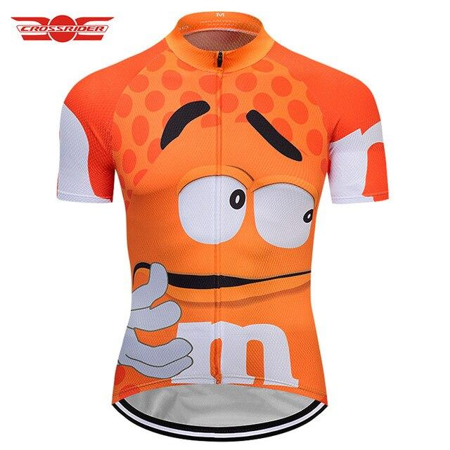 7 colors Summer Cycling Jerseys Funny Cycling Clothing Mtb Shirt Bicycle top Shirt Short Maillot Ropa Ciclismo Bike Wear Clothes Bikewest.com Orange XXS
