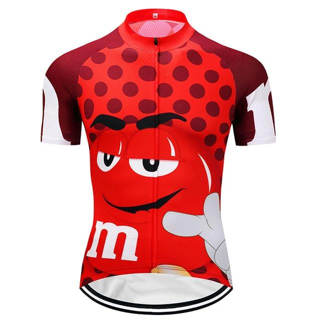 7 colors Summer Cycling Jerseys Funny Cycling Clothing Mtb Shirt Bicycle top Shirt Short Maillot Ropa Ciclismo Bike Wear Clothes Bikewest.com Red XXS
