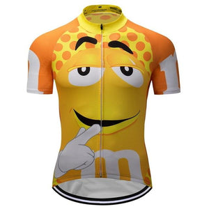7 colors Summer Cycling Jerseys Funny Cycling Clothing Mtb Shirt Bicycle top Shirt Short Maillot Ropa Ciclismo Bike Wear Clothes Bikewest.com YELLOW XXS