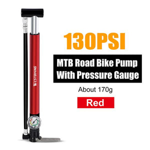 Alloy Bicycle Pump Bikewest.com Red China