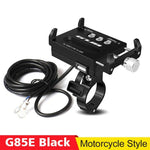 Load image into Gallery viewer, Aluminum Bicycle Phone Mount Bikewest.com G85E Black China