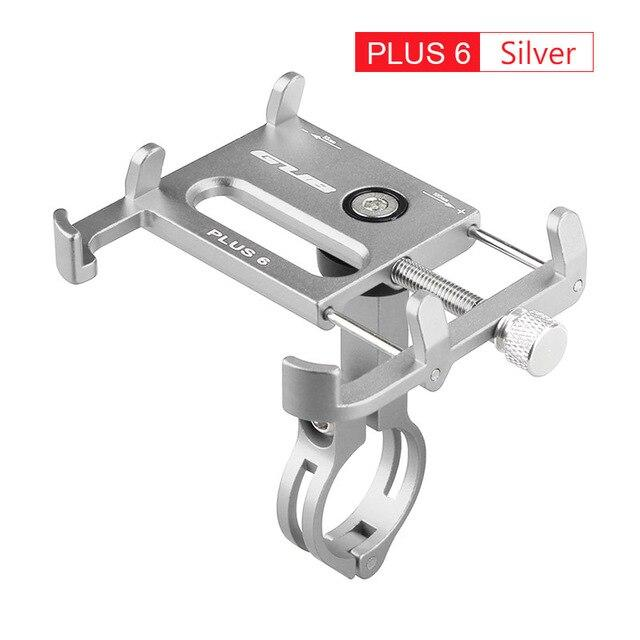 Aluminum Bicycle Phone Mount Bikewest.com Plus6 Silver China