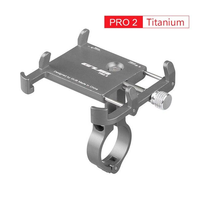 Aluminum Bicycle Phone Mount Bikewest.com Pro2 Titanium China