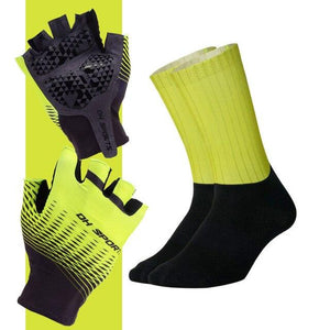 Anti-slip Cycling Gloves with Non-Slip Cycling Socks Set Bikewest.com G01 M