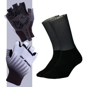 Anti-slip Cycling Gloves with Non-Slip Cycling Socks Set Bikewest.com G02 M