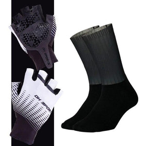 Anti-slip Cycling Gloves with Non-Slip Cycling Socks Set Bikewest.com G03 XL