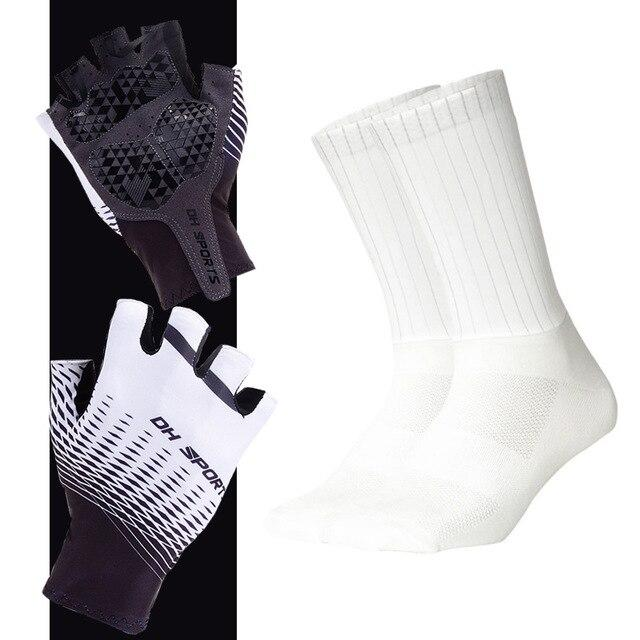 Anti-slip Cycling Gloves with Non-Slip Cycling Socks Set Bikewest.com G04 M