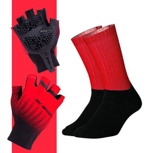Anti-slip Cycling Gloves with Non-Slip Cycling Socks Set Bikewest.com G07 XL