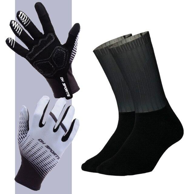 Anti-slip Cycling Gloves with Non-Slip Cycling Socks Set Bikewest.com G14 M