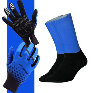 Anti-slip Cycling Gloves with Non-Slip Cycling Socks Set Bikewest.com G18 M