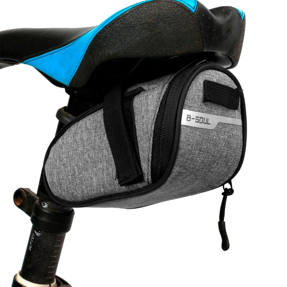B-soul Portable Waterproof Bike Saddle Bag Portable Cycling Seat Pouch Bikewest.com