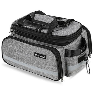 Bicycle 3 in 1 Trunk Bag Road Mountain Bike Bag Cycling Double Side Rear Rack Luggage Carrier Tail Seat Pannier Pack Bikewest.com Grey Russian Federation