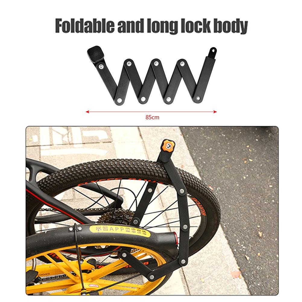 Bicycle Alloy Steel Folding Lock Bikewest.com