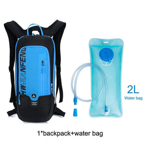 Bicycle Bag Waterproof Bike Backpack Nylon Cycling Hiking Camping Hydration Backpack Bike Equipment 10L Riding Bag Bikewest.com blue water bag