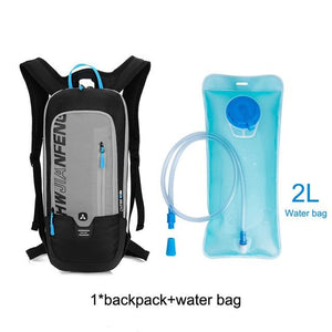Bicycle Bag Waterproof Bike Backpack Nylon Cycling Hiking Camping Hydration Backpack Bike Equipment 10L Riding Bag Bikewest.com gray water bag