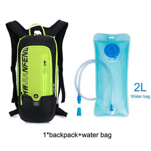 Bicycle Bag Waterproof Bike Backpack Nylon Cycling Hiking Camping Hydration Backpack Bike Equipment 10L Riding Bag Bikewest.com green water bag