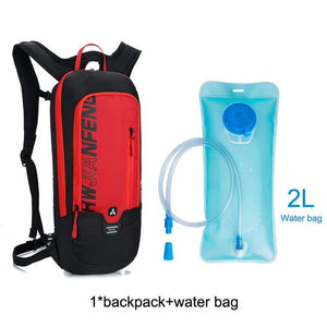 Bicycle Bag Waterproof Bike Backpack Nylon Cycling Hiking Camping Hydration Backpack Bike Equipment 10L Riding Bag Bikewest.com red water bag