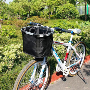 Bicycle Basket Handlebar Pannier Cycling Bikewest.com