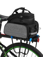 Load image into Gallery viewer, Bike Bag 13L Multifunctional Bicycle Rear Seat Bikewest.com Black grey