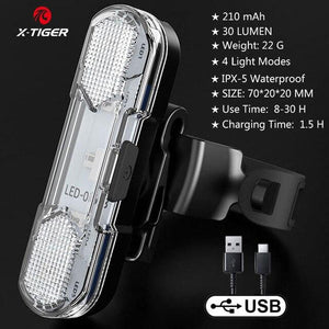 Bike Bicycle Light USB LED Bikewest.com Taillight 3