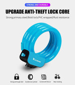 Load image into Gallery viewer, Bike Lock 1.2m Anti Theft Security Bicycle Accessories With 2 Keys Cable Lock Bikewest.com