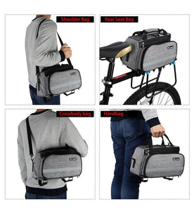 Bike Waterproof Seat Pannier Pack Luggage Cycling Bag 10-25L Bicycle Pannier Bag Rear Rack Trunk Bag With Rain Cover Bikewest.com