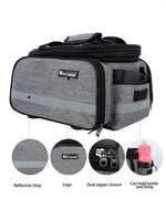 Load image into Gallery viewer, Waterproof bike carrier bag dual zipper