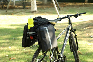 Waterproof bike carrier bag tear