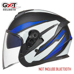 Load image into Gallery viewer, Bluetooth Motorcycle Helmet headset Bikewest.com 703-Matte Blue L