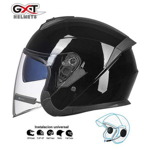 Bluetooth Motorcycle Helmet headset Bikewest.com Bright Black BT L