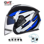 Load image into Gallery viewer, Bluetooth Motorcycle Helmet headset Bikewest.com Bright Blue BT M