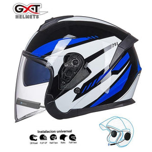 Bluetooth Motorcycle Helmet headset Bikewest.com Bright Blue BT M