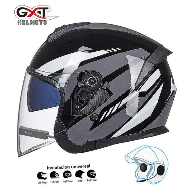Bluetooth Motorcycle Helmet headset Bikewest.com Bright Grey BT M