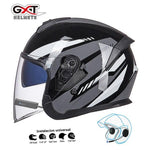 Load image into Gallery viewer, Bluetooth Motorcycle Helmet headset Bikewest.com Bright Grey BT M
