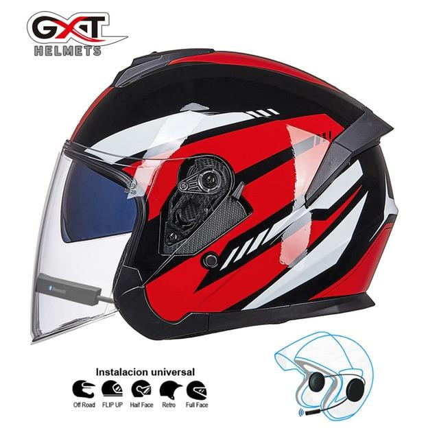Bluetooth Motorcycle Helmet headset Bikewest.com Bright Red BT M
