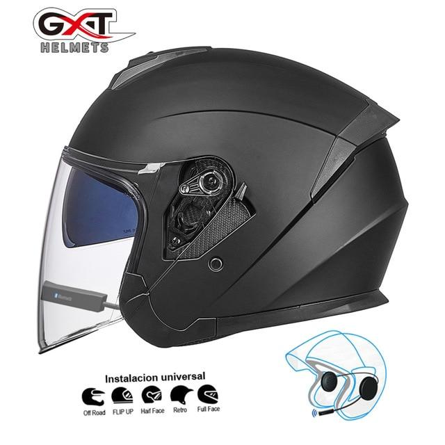 Bluetooth Motorcycle Helmet headset Bikewest.com Matte Black BT XL