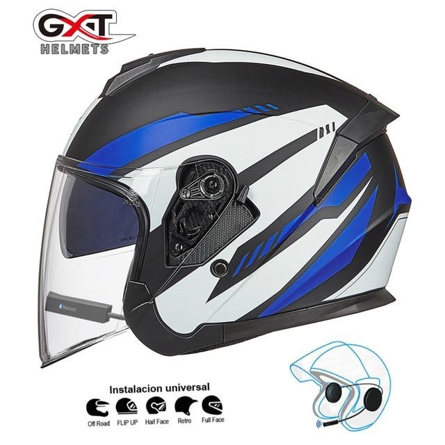 Bluetooth Motorcycle Helmet headset Bikewest.com Matte Blue BT XL