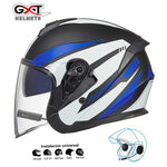 Load image into Gallery viewer, Bluetooth Motorcycle Helmet headset Bikewest.com Matte Blue BT XL