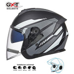Load image into Gallery viewer, Bluetooth Motorcycle Helmet headset Bikewest.com Matte Grey BT M