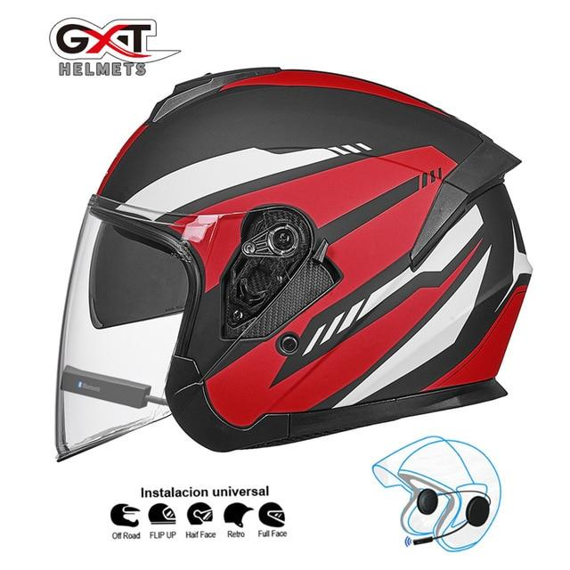 Bluetooth Motorcycle Helmet headset Bikewest.com Matte Red BT M